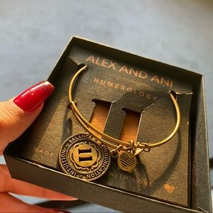 Alex and Ani gold lucky number 11 bracelet